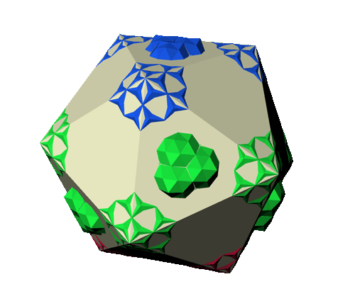 macro-molécule de niveau 1 avec l'icosaèdre